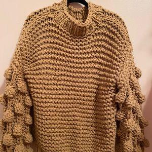 Oversized Popcorn Knit Sweater